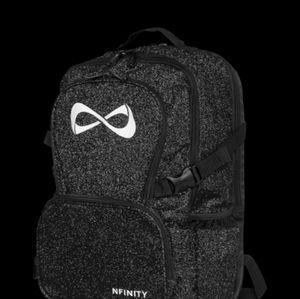 Black nfinity sparkle backpack